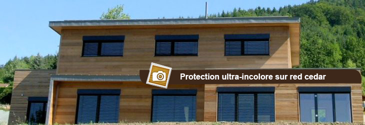 Protection ultra-incolore sur bardage red cedar