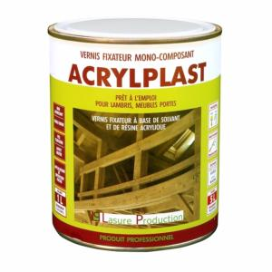 Vernis ACRYLPLAST de Lasure Production - Pot de 1 litre